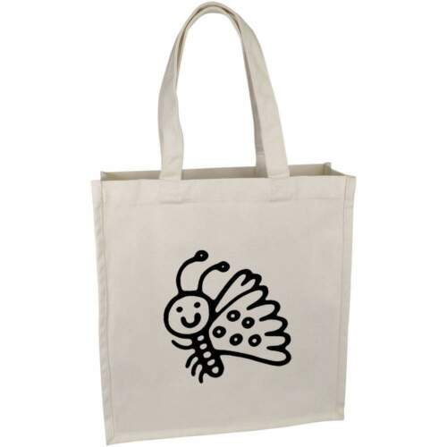 /'Cute Butterfly/' Cotton Shopper Tote Bags BG018826