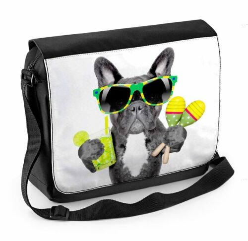 French Bulldog Brazilian Style Laptop Messenger Bag Brazil Bulldogs Funny