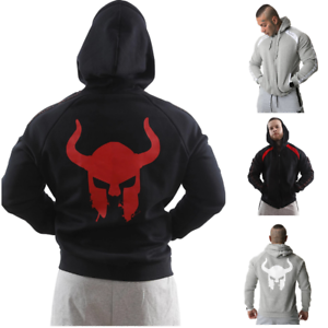Viking Liftwear Hoodie Men/'s Spartan Helmet Gym Fitness MMA Workout Sweatshirt