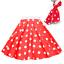 ROCK-N-ROLL-POLKA-DOT-SKIRT-21-034-Length-039-50s-GREASE-LADIES-FANCY-DRESS-COSTUME Indexbild 3