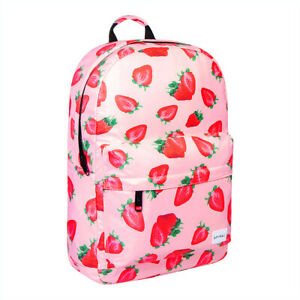 Details About Spiral Strawberry Pink Og Uni Backpack Travel Rucksack College School Bag