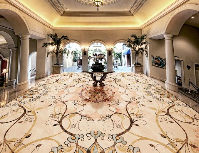 3D Mandala Floral 7 Floor WallPaper Murals Wall Print Decal AJ WALLPAPER US