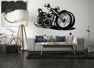 Wall Art Vinyl Sticker Room Decal Mural Decor Chopper Bike Motorcycle Bo1727 Ebay