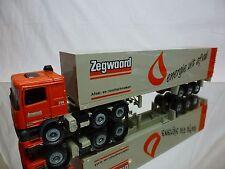 TEKNO HOLLAND DAF 95XF 380 ATI TRUCK + TRAILER - ZEGWAARD - ORANGE 1:50 - GOOD