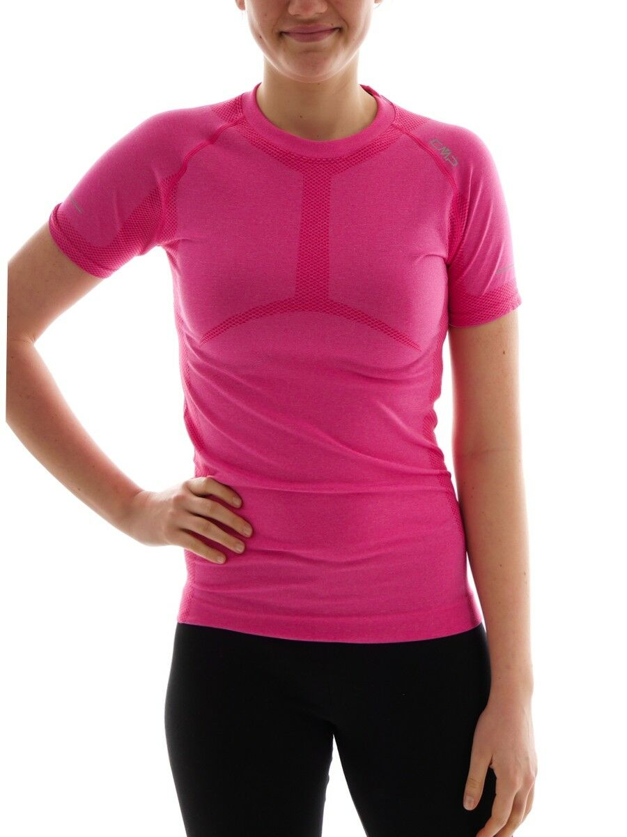 CMP Running Shirt Function  Top Shirt Pink 4-Way Stretch Slim Fit  presenting all the latest high street fashion