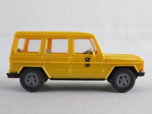 Wiking-266-7-Mercedes-Benz-230-GE-1982-034-DBP-034-in-gelb-1-87-H0-NEU-unbespielt