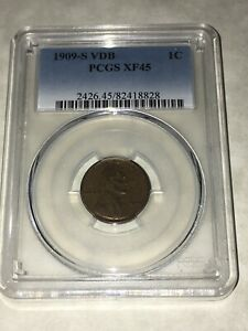 1909-S-VDB-PCGS-XF45-1C-Lincoln-Cent-Wheat-Ears-Penny-nice-appeal