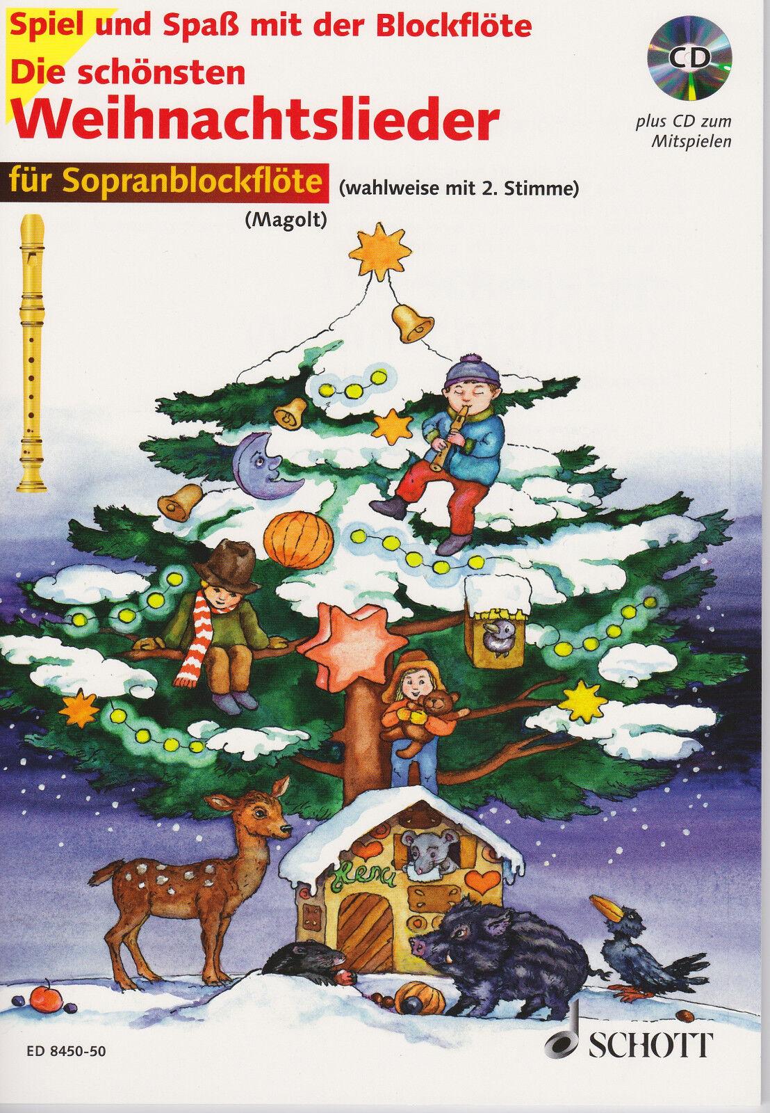 die schönsten Weihnachtslieder für Sopranblockflöte Noten CD | eBay