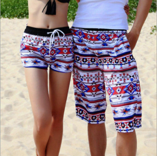 Fashion Mens Womens Lovers Beach Surf Board Swim Shorts Casual Swim Pants