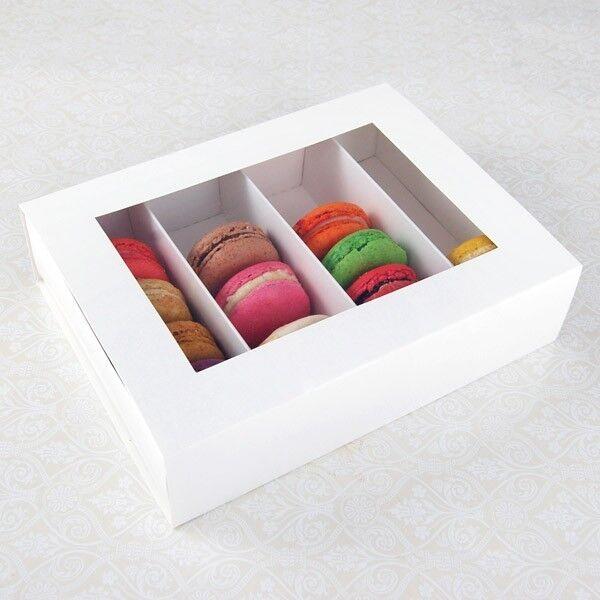25 Sets of Weiß Macaron Boxes for 24 Macarons ( 3.60 Per Set of Macaron Box)