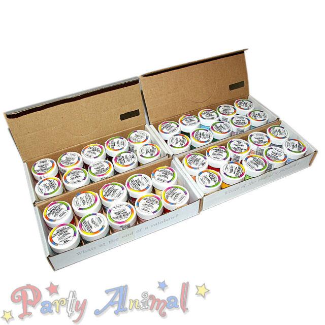 "Rainbow Dust ""Plain & Simple"" 40 edible food colour. FULL RANGE cake decorating"