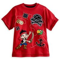 Disney Store Jake And The Never Land Pirates Deluxe Storytelling Tee Red