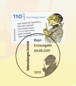 Amical Rfa 2001: Professeur Lämpel Nº 2209 Avec Le Bonner Ersttags Cachet Spécial! 1 A 1802-stempel! 1a 1802fr-fr Afficher Le Titre D'origine