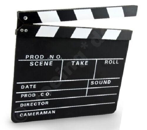 6 Stück Clapperboard Filmklappe Regieklappe 30 x 26 cm Regie-Klappe Klappe Board