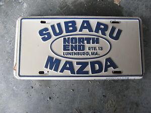 Subaru Dealers Ma >> Details About North End Subaru Mazda Lunenburg Ma Dealer Ship Booster License Plate