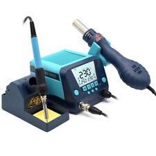 Smd Soldering Iron Rework Station Hotampair Gun Lcd Digital Display 110v Easy Use
