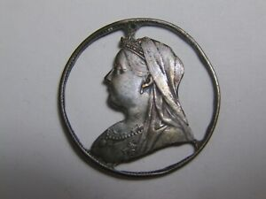 "½ penny Victoria ""old head"" (1895-1901) découpé"
