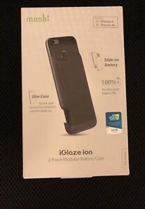 Moshi Iglaze Iphone 6, 6s Battery Charging case - New Black - 2 pieces