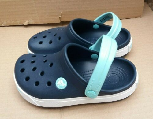 Relaxed Fit Navy//Ice Blue CHILDREN/'S CROCBAND CROCS CLOGS