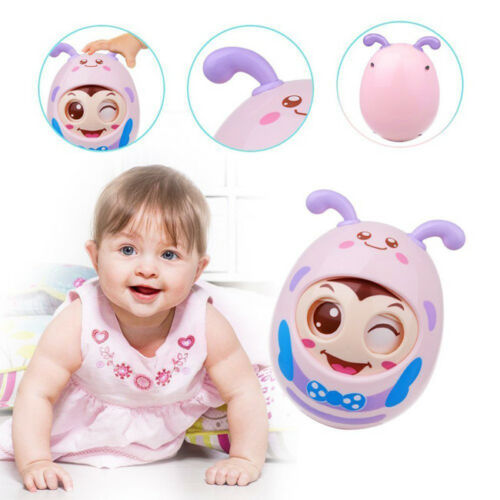 Roly-Poly Tumbler Baby Toy Infant Teether Toys with Bell Kids Educational Toys S