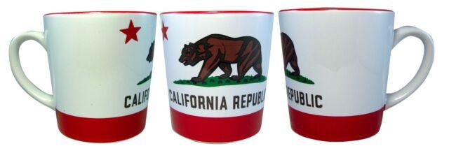 California Republic State Bear Flag Large Coffee Mug