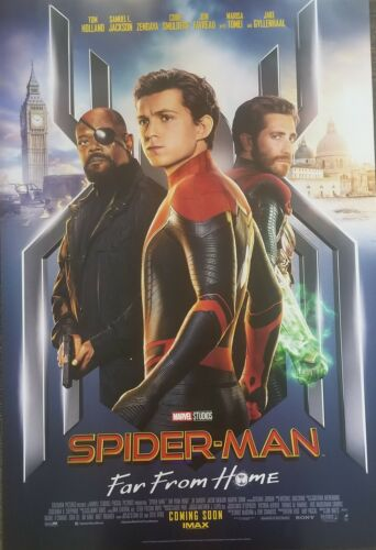Spider-man Far From Home Intl D Movie Poster Double Sided 27x40 Original