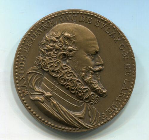Alte Bronze Medaille aus Frankreich: Maxi de Bethvne Dvc de Svlly GM de Lart DEF