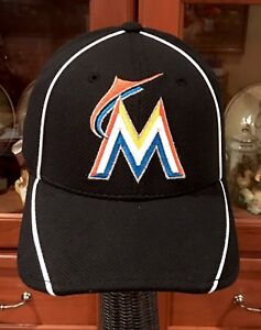 uk availability f2b87 39430 Image is loading Miami-Marlins-Hat-NEW-ERA-Fitted-MLB-Baseball-