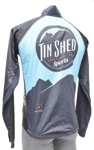 Pactimo Tin Shed Evergreen Lightweight Cycling Wind Jacket Blue Road Bike MTB