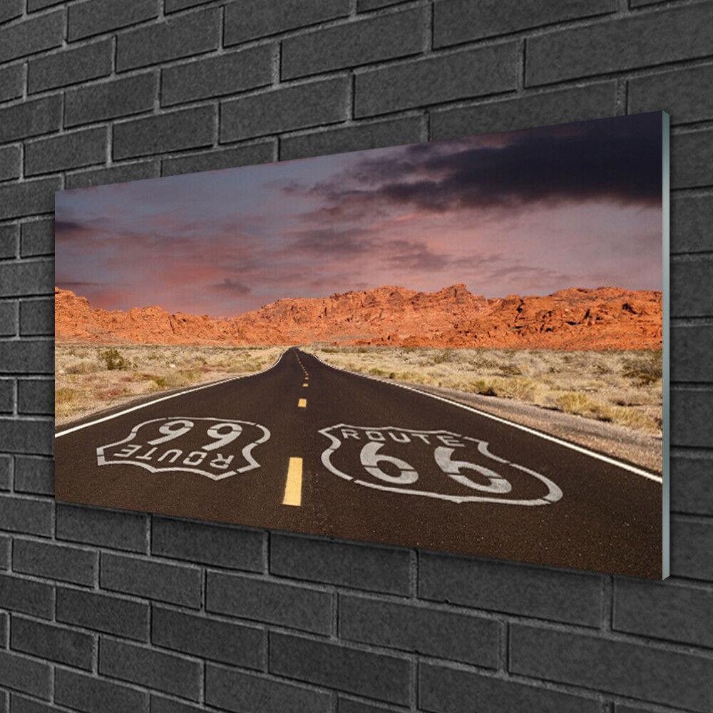 Image sur verre Tableau Impression 100x50 Paysage Rue