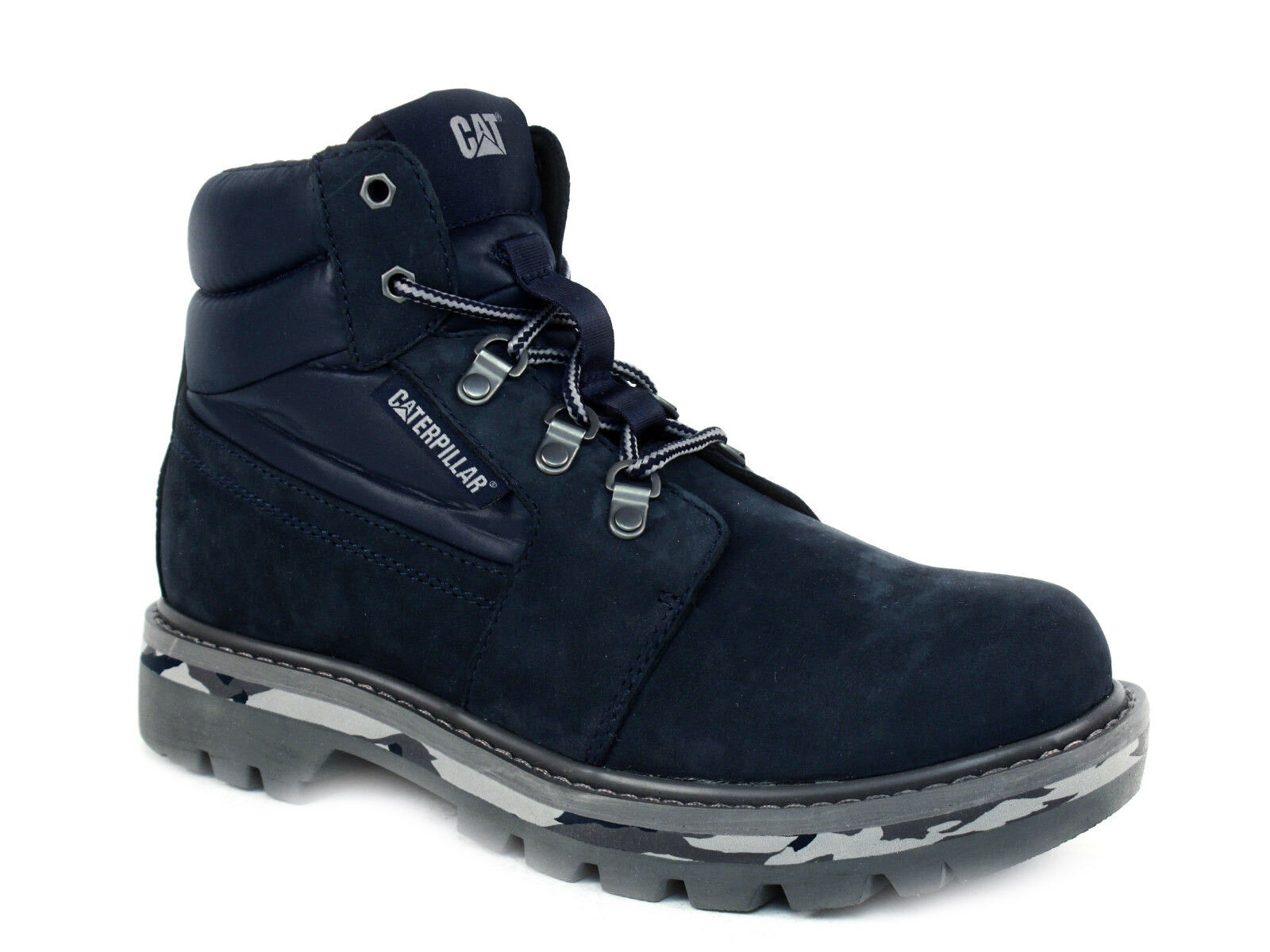 Caterpillar JUNCTION Oil Resistant  Mens Work Hiking Casual Navy Nubuck Boots