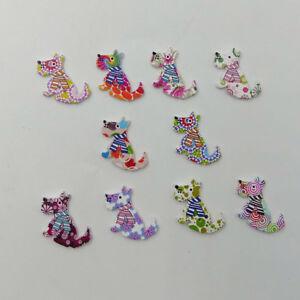 FT-ALS-FT-50Pcs-2-Holes-Floral-Dog-Wooden-Button-Sewing-Scrapbooking-DIY-Craf