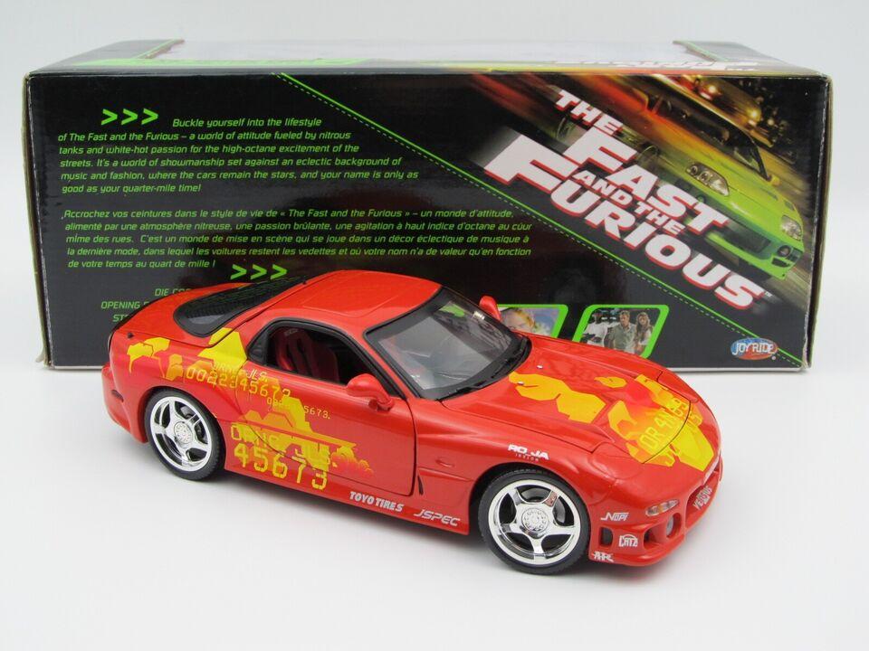 Modelbil, Fast and Furious Mazda RX7 , skala 1:18