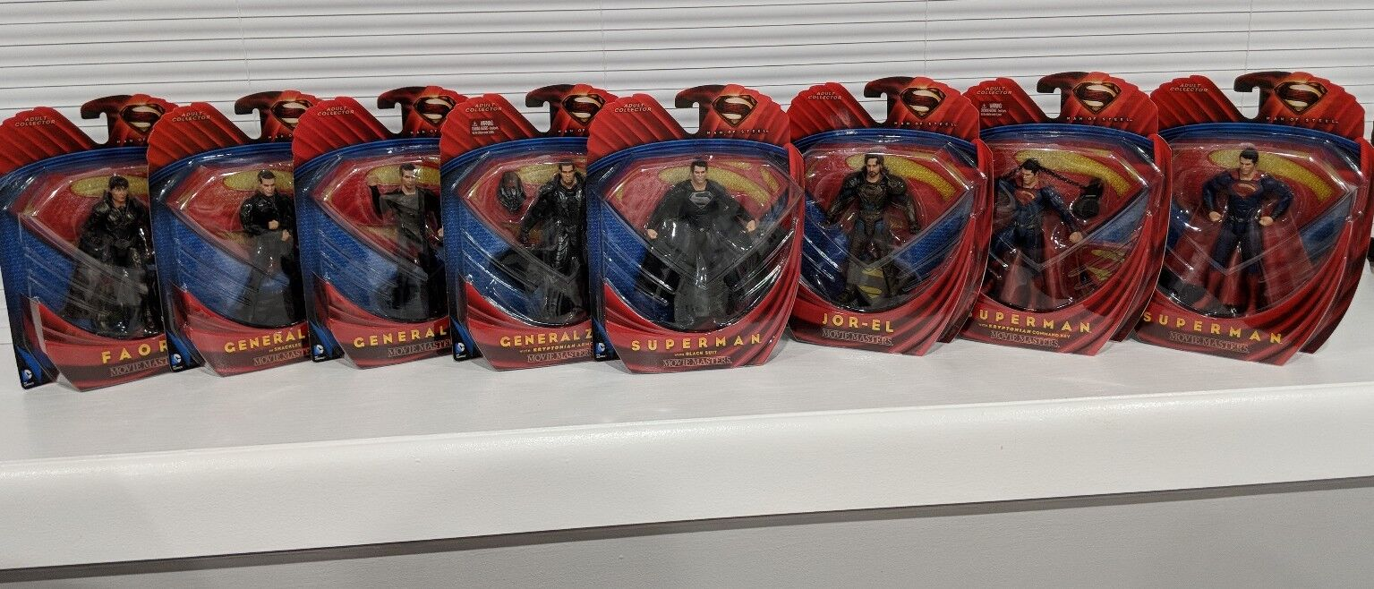 SUPERMAN MOVIE MASTERPIECE MAN OF STEEL COMPLETE SET *MINT* FAST SHIPPING
