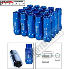 GODSPEED BLUE TYPE 3X WHEEL RIM STEEL LUG NUTS 50MM 20 PIECE M12 X 1.25 OPEN END