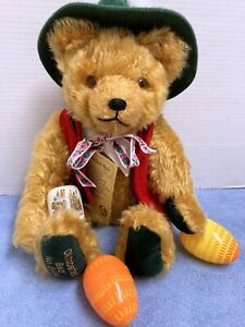"Hermann Oktoberfest 15"" Mohair Musical Bear Ltd. Ed. Plays Edelweiss--Easter"