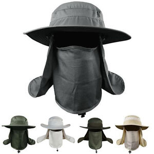 Boonie Hat Fishing Army Military Hiking Snap Brim Neck Cover Bucket ... 80d4b06e6fff