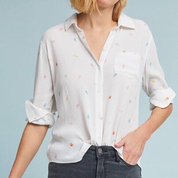 Anthropologie Rails Popsicle Blouse Shirt Size L