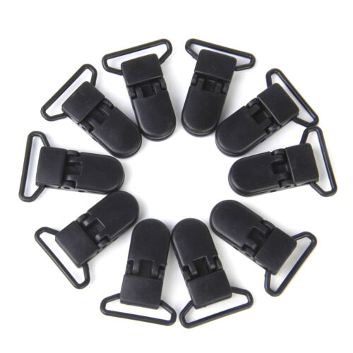 10Pcs Universell Resin Stoffklammern Wonderclips Stoffclips 42x31mm schwarz