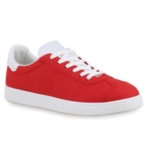 Sneakers Low Damen Profil Sohle Freizeit Turnschuhe Trendschuhe 814332 Schuhe