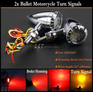 2Pcs-12V-LED-Bullet-Brake-Turn-Signal-Lights-For-Harley-Bobber-Chopper-Cruiser