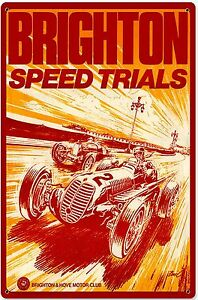 Brighton-Speed-Trials-Arrugginiti-Insegna-Acciaio-450mm-x-300mm-Pst-1812