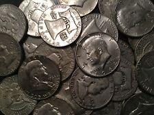 1/2 LB BAG 8 OZ Mixed Halves US 90%  Silver Coins Junk Silver Coins Pre 65 ONE 1