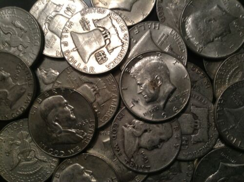 1//2 LB BAG 8 OZ Mixed Halves US 90/%  Silver Coins Junk Silver Coins Pre 65 ONE 1