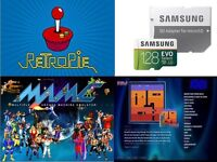 128GB SD-Card Retropie, EmulationStation,KODI, Games 12,000+ for Raspberry Pi 3
