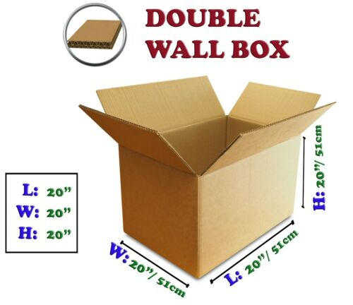 50pc EXTRA STRONG Corrugated Cardboard Boxes DOUBLE WALL Small Medium Large UK
