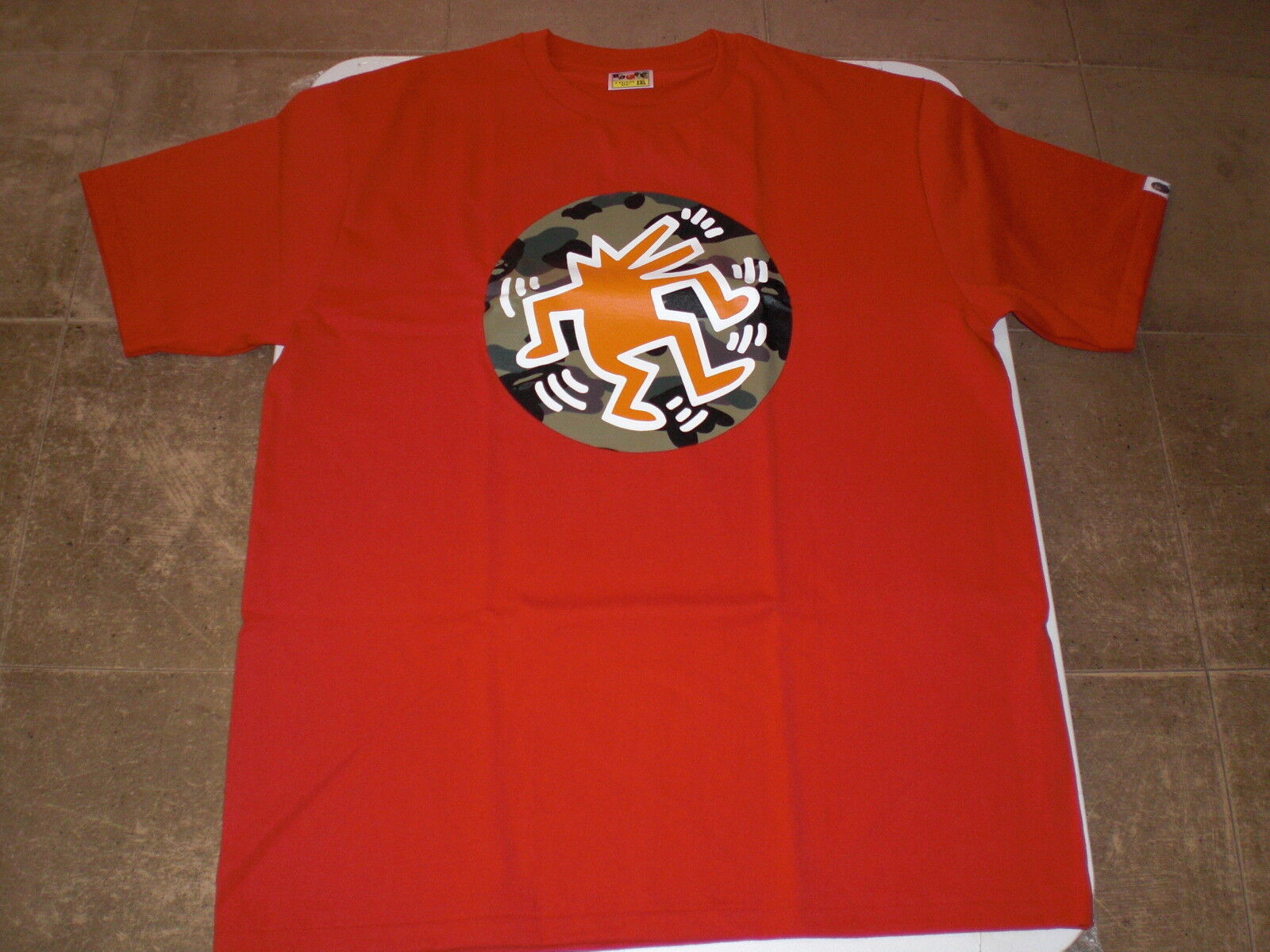fd54d42f Authentic a Bathing Ape Bape X Keith Haring Tee #5 T Shirt Red 2xl ...