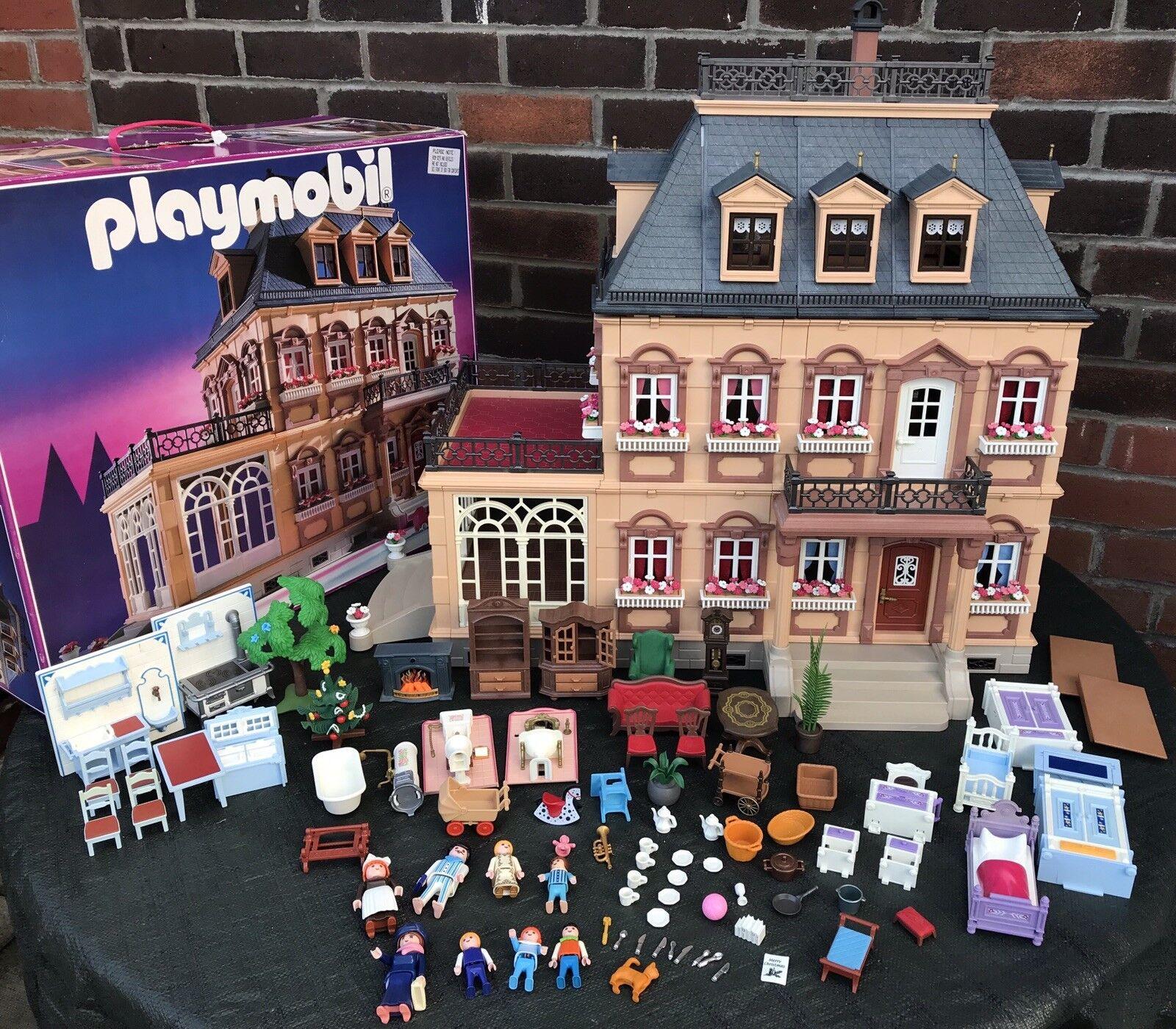 PLAYMOBIL Vittoriano MANSION CASA DELLE BAMBOLE MOBILI 5300 Vintage Casa delle Bambole in Scatola