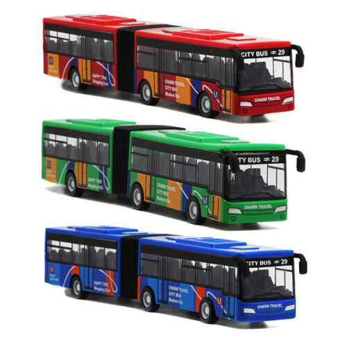 1pc Pull Back Cars  Alloy Vehicles Mini Model City Express Bus Double Buses 2019