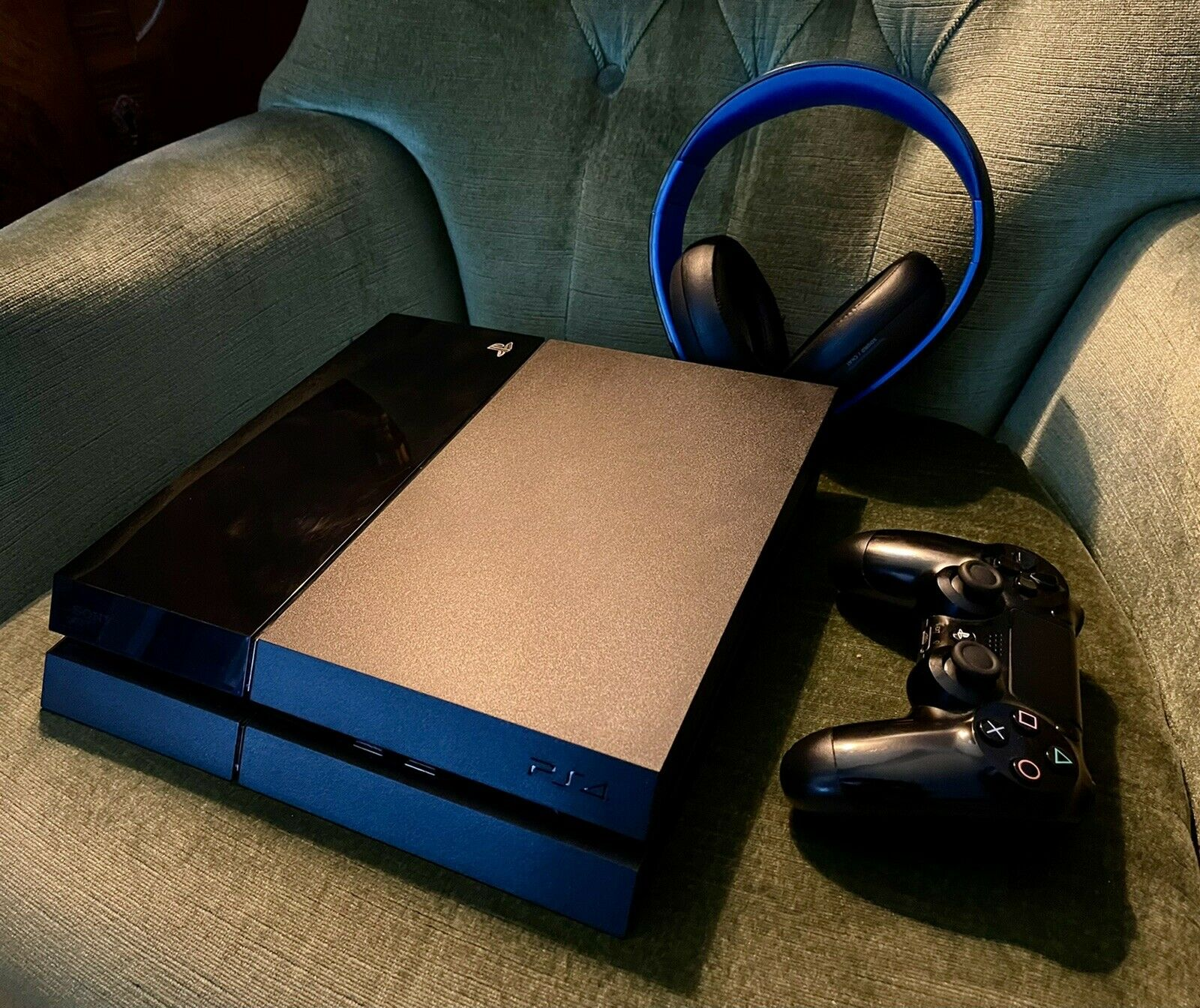Playstation 4 (1TB) w/ Dual Shock 4 Controller and Official Headset